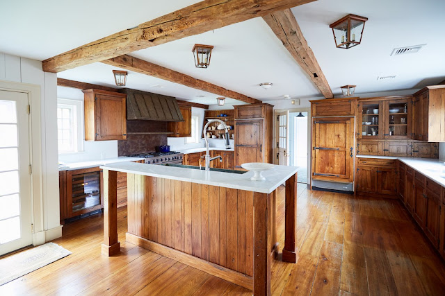 Before image of renovation of modern farmhouse kitchen by One King's Lane - found on Hello Lovely Studio