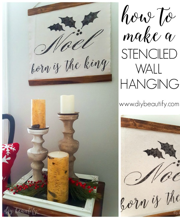 stenciled wall hanging