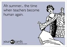 Oh summer... the time when teachers become human again - teacher holding a pretty dress