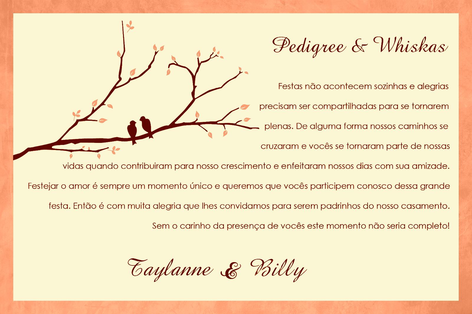 Mensagens Para Cartão De Casamento: Mensagens Padrinhos De Casamento