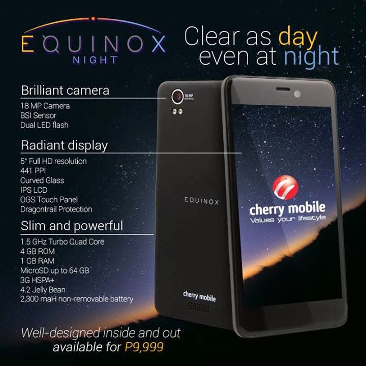 Cherry Mobile Equinox Night Specifications