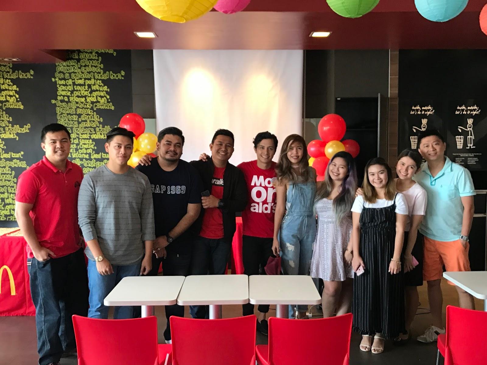 Davao Bloggers at McDonald's National Breakfast Day