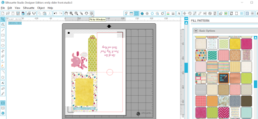 Front page layout of free pop up slider card.  Tutorial by Nadine Muir for Silhouette UK Blog