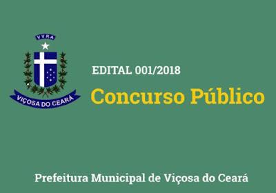 Prefeitura de Viçosa do Ceará - Concurso Edital 2018