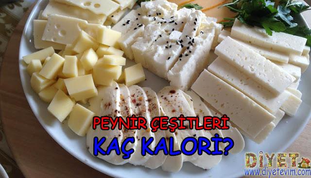 peynir çeşitlerinin kalori miktarları