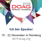Speaking at DOAG Conference 2019