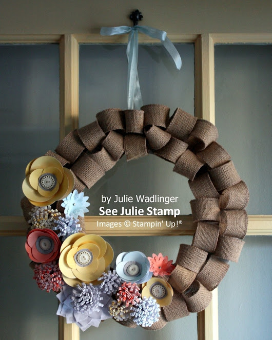 Kit: Burlap and Blooms Simply Created Wreath Kit