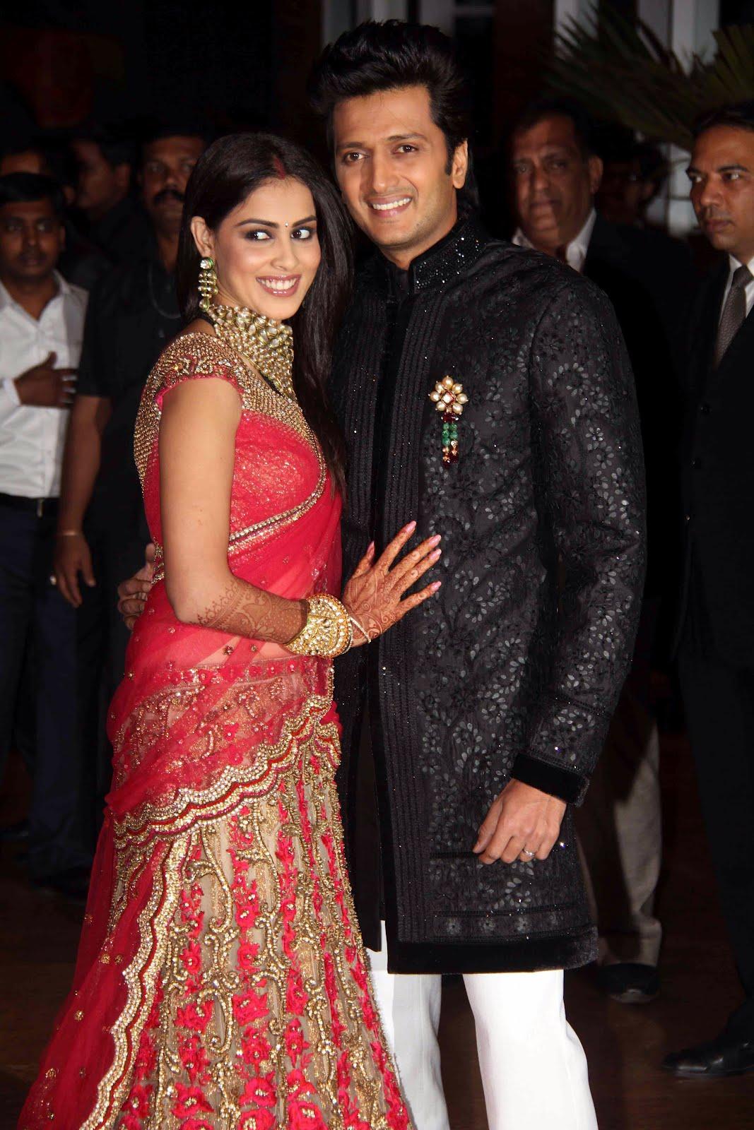 Genelia Marriage Reception Photos Genelia Ritesh Wedding...