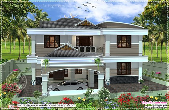 Front elevation house