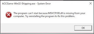 MSVCR110 and MSVCP110 dll Missing Error