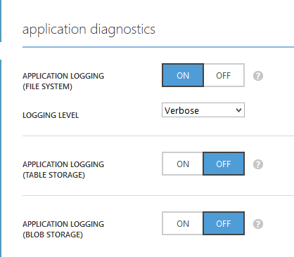 Application Diagnostics For Application Logging - Windows Azure