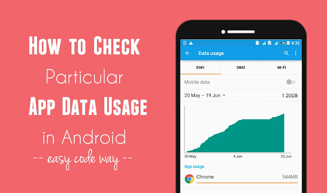 Monitor app data usage