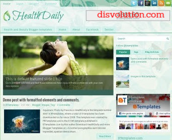 Template Terbaru 2017 HealthDaily Seo Responsive Download Gratis
