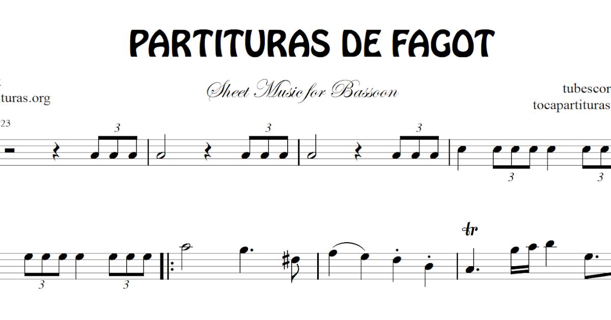 Diegosax 1000 Partituras Para Aprender Fagot