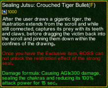 naruto castle defense 6.3 Sealing Technique: Tiger Vision Staring Bullet detail