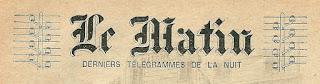 Le Matin; les derniers télégrammes de la nuit (1900)