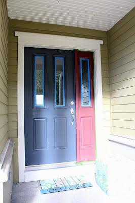 Heater For Garage >> Worth Pinning: Gray Door or Teal Door? How about both?