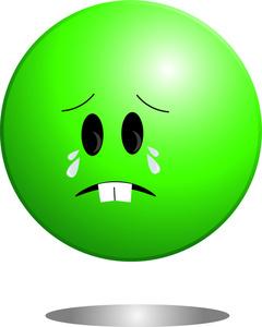 Green Sad Smiley Tears