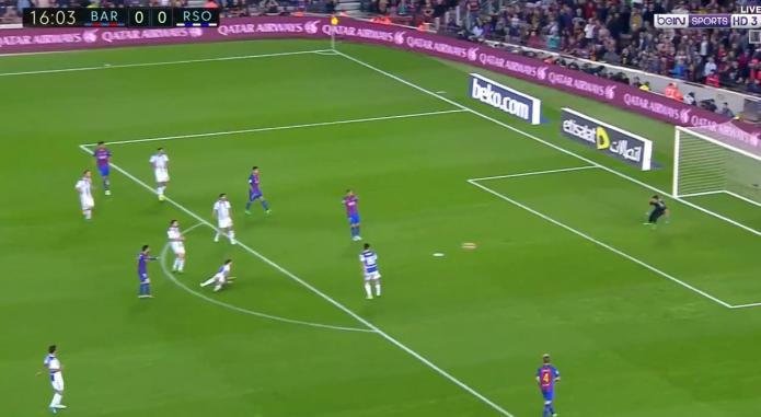 بالفيديو : برشلونة يفوز على ريال سوسييداد بثلاثية مقابل هدفين فى الدورى الاسبانى السبت 15-4-2017