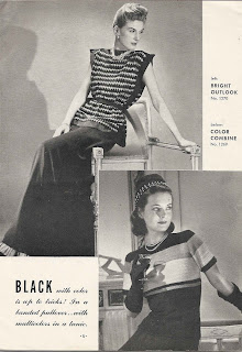 Vintage Crochet Knit Blouse Patterns