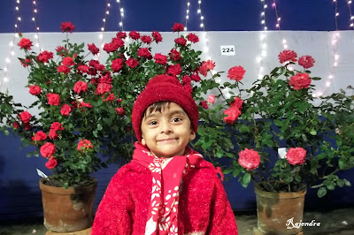 Pranitaa at Flower Exhibition