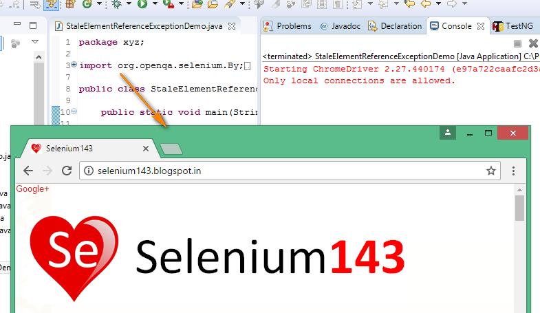Selenium-By-Arun: StaleElementReferenceException WebDriver Exception