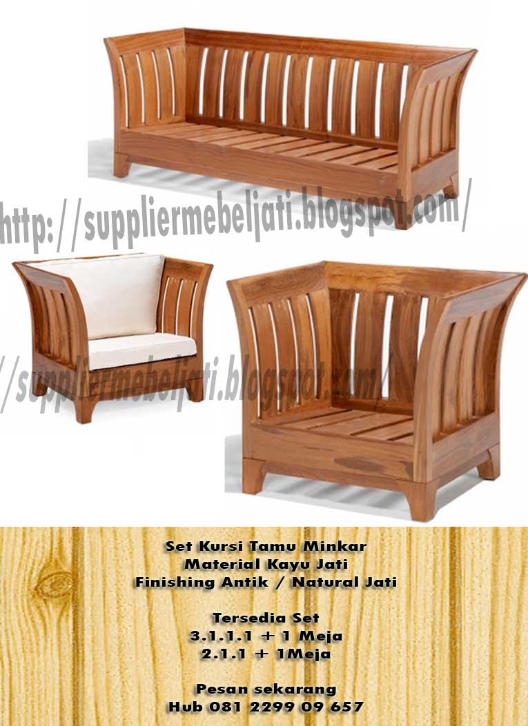Jual Furniture Minimalis Jepara Kursi Tamu Jati Mincar