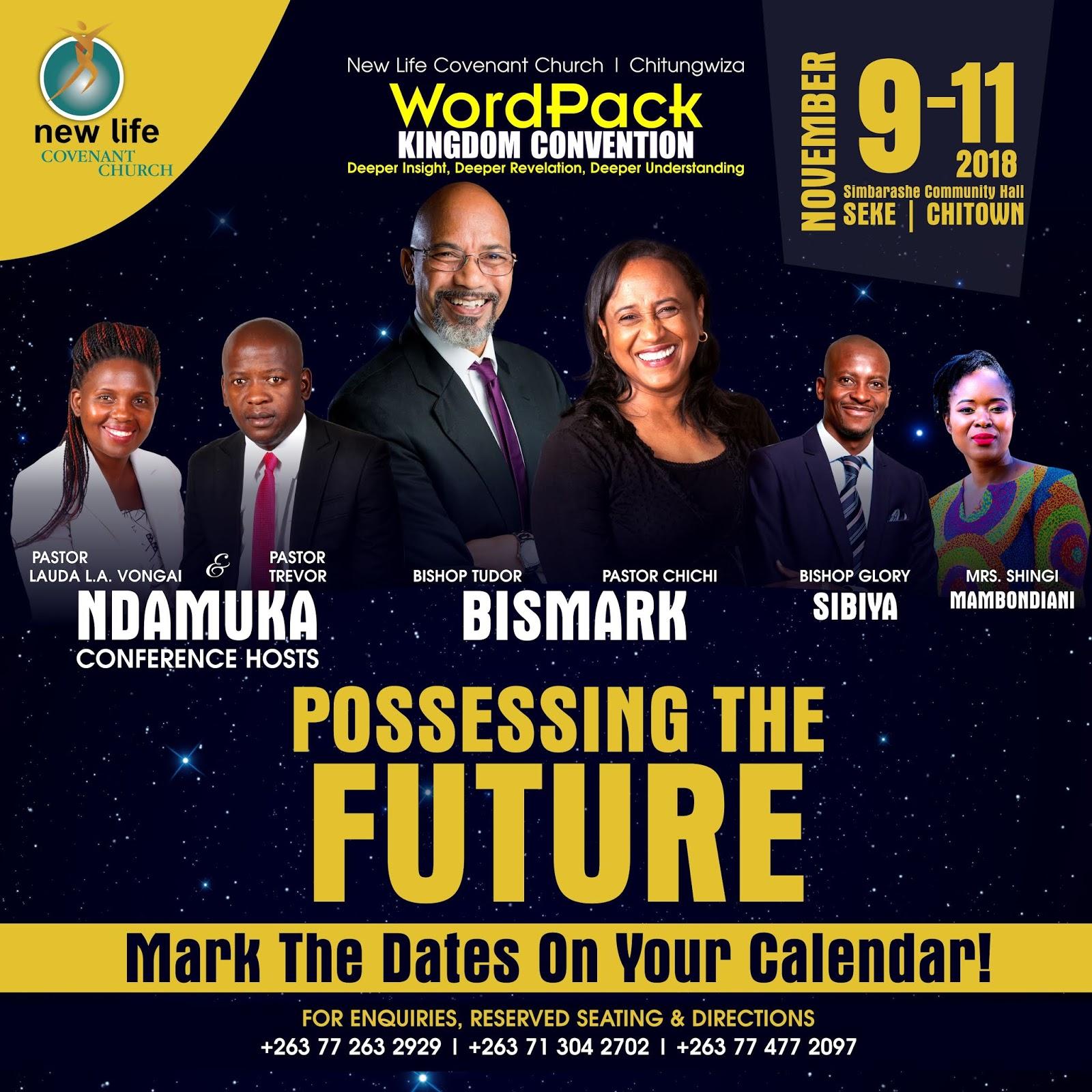 Bishop Tudor Bismark For Chitungwiza WordPack Kingdom Convention 2018