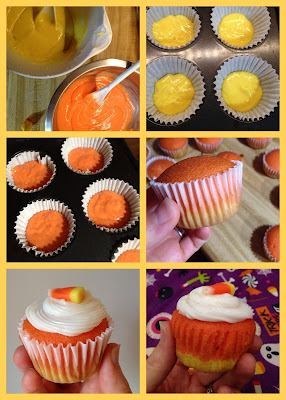 Candy Corn Cupcakes @ whatilivefor.net