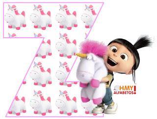 Alfabeto de Agnes y su Unicornio.