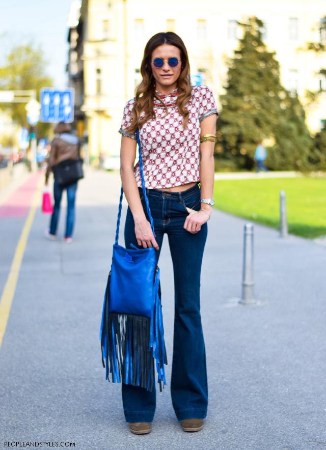 Street style look: Isabel Marant Bobby sneakers, J Brand jeans, Isabel Marant top, Sheriff&Cherry sunčane , Mariposa torba s resama, Kristina Bradač
