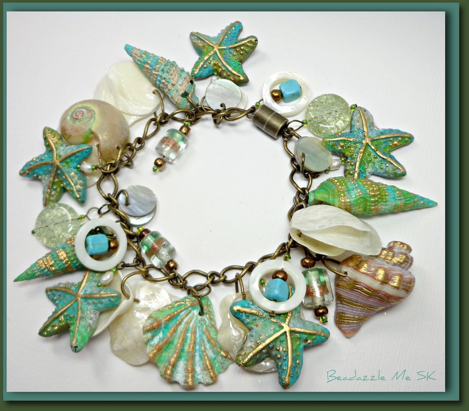 Polymer Clay Charm Bracelet: Beadazzle Me Polymer Jewelry: Polymer Clay Jewelry