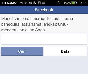 Cara Buka FB Yang Lupa Email