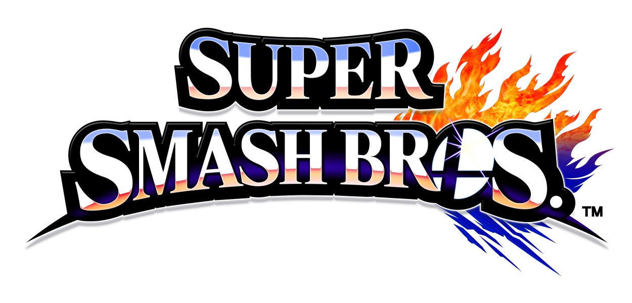 title screen Super Smash Bros font