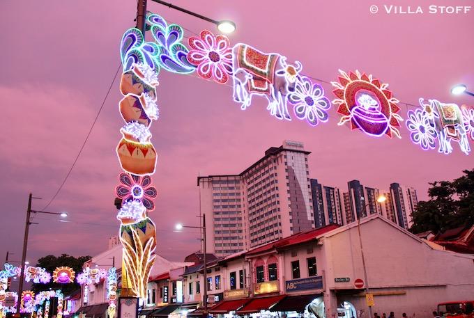 Singapur | rosa Himmel zum Sonnenuntergang