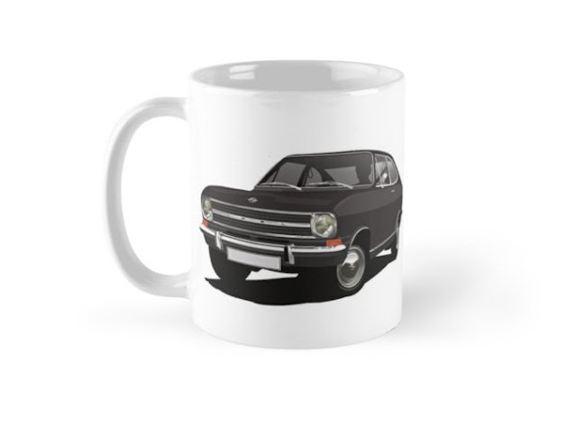 Opel Kadett B printed coffee mug