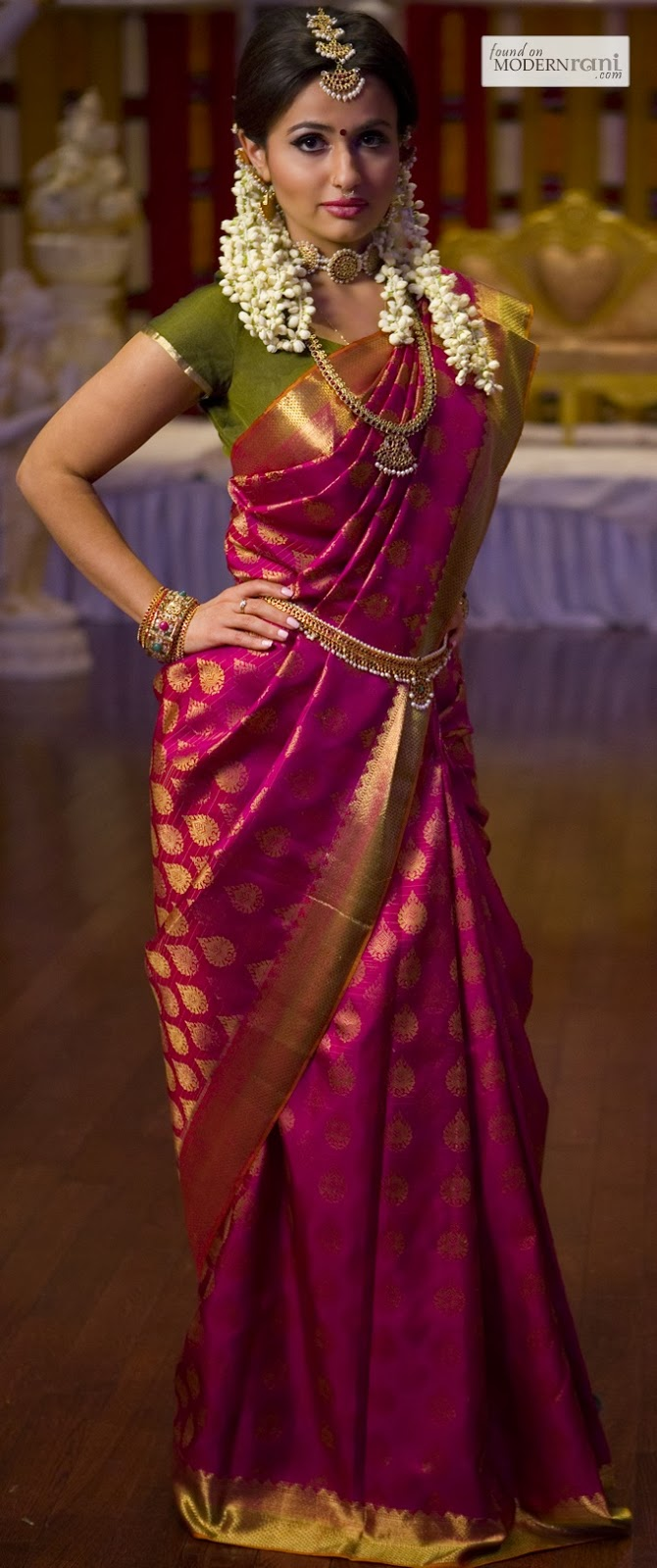 BEAUTIFULL SAREE DARK PINK COLOUR SILK SAREE