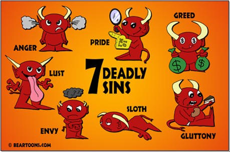 "The ""7 deadly sins"" tag.."