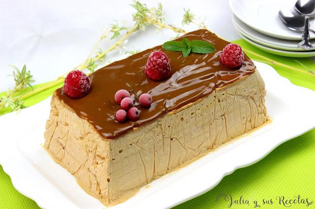 Tarta helada de dulce de leche y galletas. Julia y sus recetas