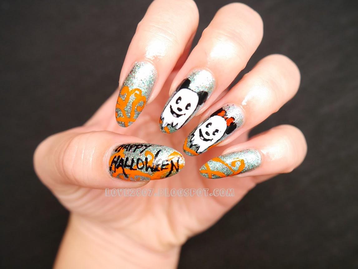 nailove2807: Disney Themed Halloween Nails: Mickey & Minnie