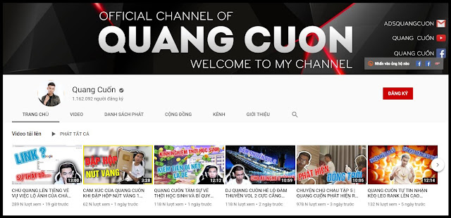Streamer tiền tỷ Quang Cuốn nhận về Nút Vàng Youtube phiên bản mới