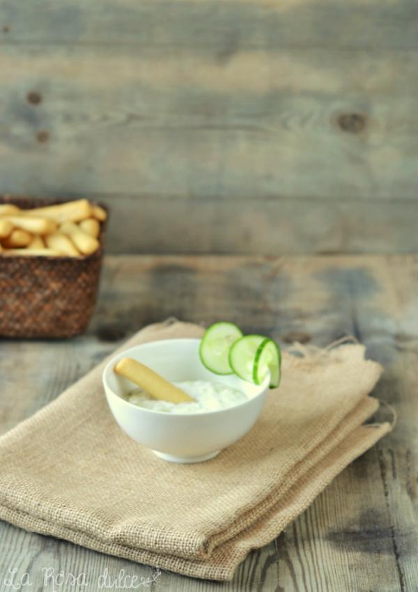 Tzatziki griego sin lactosa