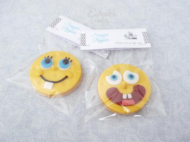 galletas con fondant de Bob Esponja - 2