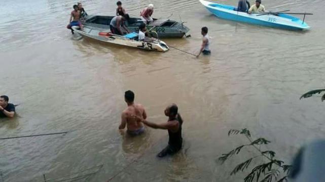 Pemandu Hilang, Kenderaan Terjunam Ke Dalam Sungai