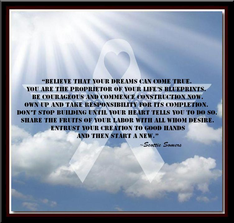 Living The Dream Foundation Scottie Somers Quote Of The Day 10 06 11
