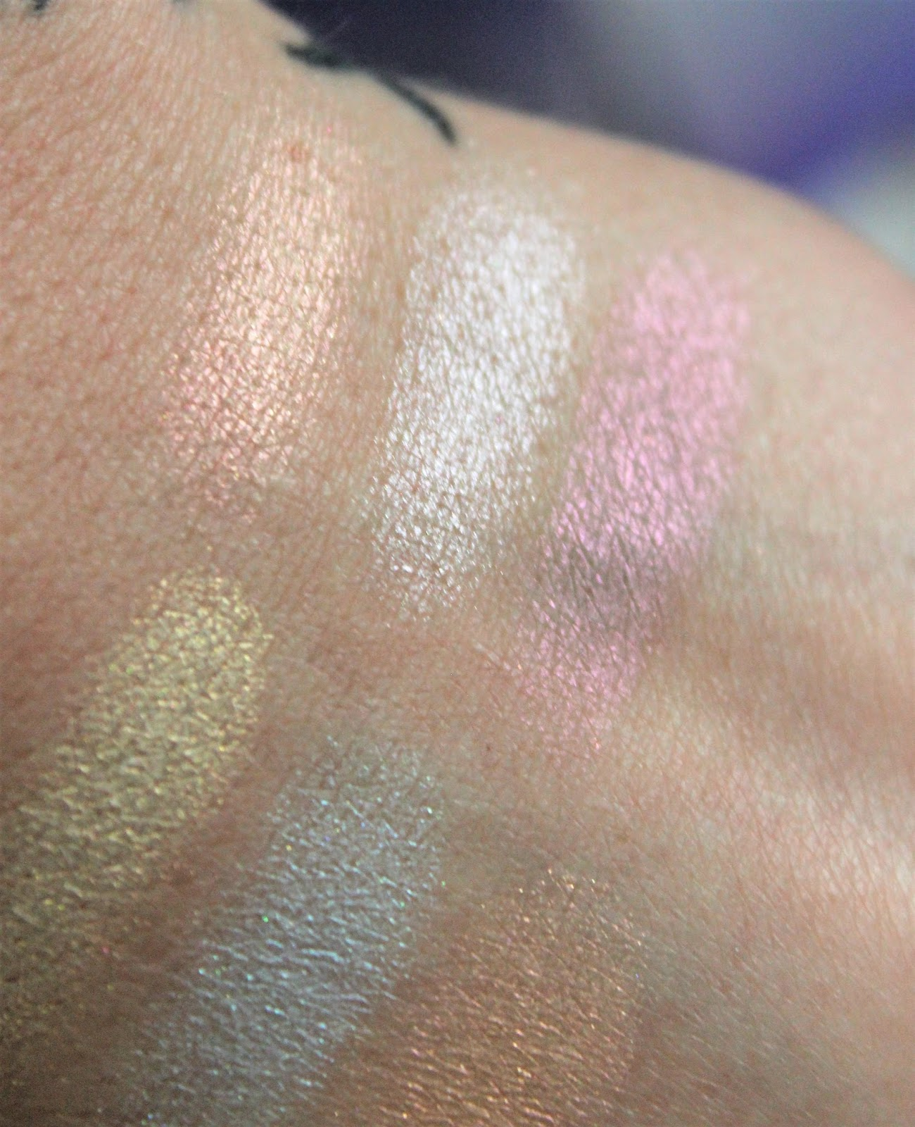 ABH Glow Kit Aurora Swatches