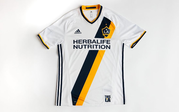 brand new 9de48 1c88a LA Galaxy 2016 Home Kit Released - Footy Headlines
