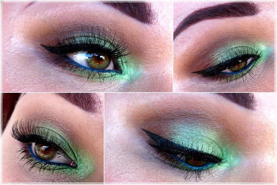 grün brauner Augen Make-up Look