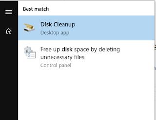 Membuka Disk Cleanup