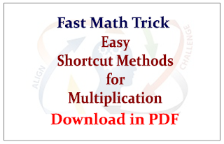 Easy Shortcut Methods for Multiplication- Download in PDF